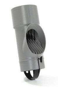 PVC bladscheider 80 - Bladvanger voor in de regenpijp
