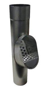 Bladscheider Zink - met zinken rooster - Diam 100 mm